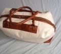 ref 415 sacola de viagem em lona e couro